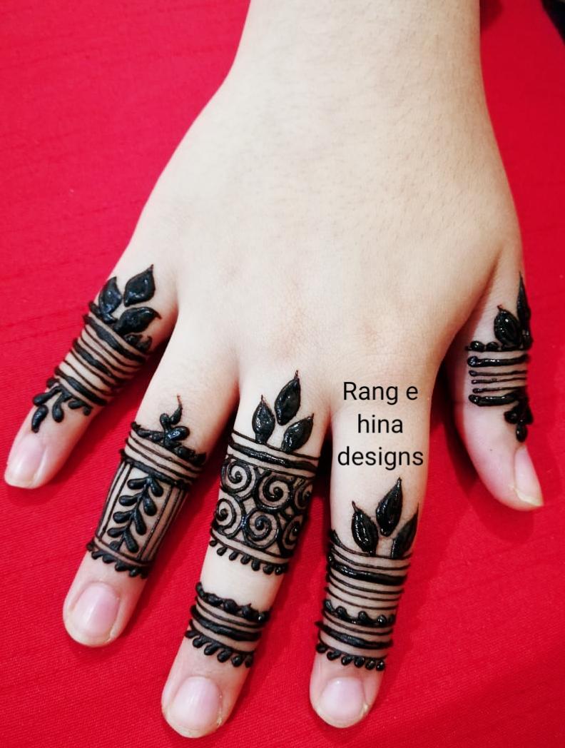 Easy Finger Mehndi Design Rang E Hina Designs